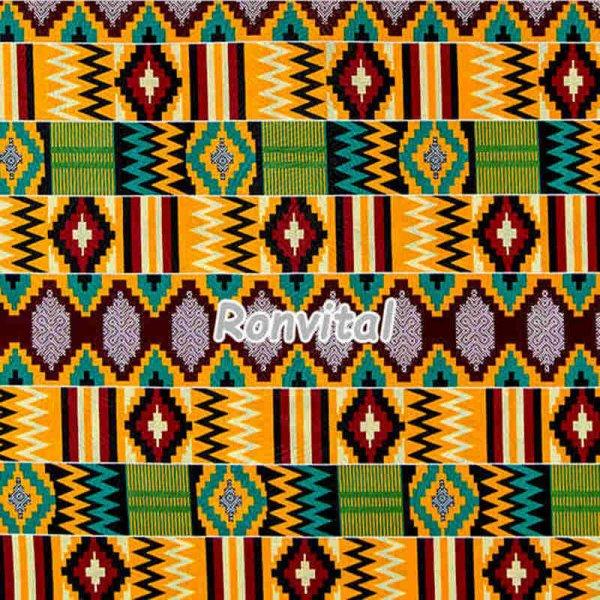 Item No.17020600 Chinese factory direct price kente java wax fabric